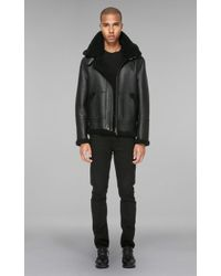 Mackage - Rey-sp Hip Length Sheepskin Jacket With Removable Hood - Lyst
