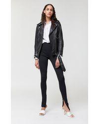 Mackage Chloe Oversized Leather Moto Jacket In Black - Women