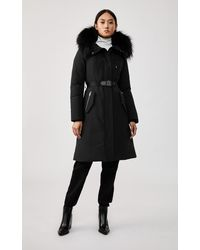 Mackage Kailyn Down Coat With Removable Silverfox Fur Trim In Black - Women