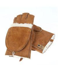 Mackage - Orea Cutout Sheepskin Mittens - Camel - S - Lyst