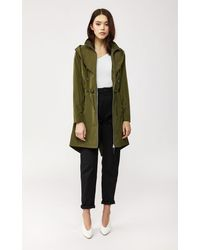 Mackage Franki Rain Jacket With Signature Hood In Army - Women - Xs - Green