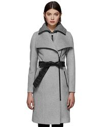 Mackage - Nori-k Tailored Wool Coat With Wide Lapel And Belt Szl163 Col440 - Lyst