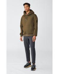 Mackage Krys Unisex Hoodie With Rainwear Lined Hood In Army - Green