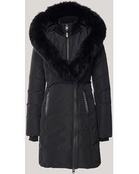 Mackage Kay Down Coat With Blue Fox Fur Signature Collar In Black - Women