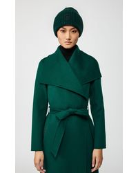 Mackage Jude Merino Knit Hat With Logo In Green
