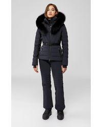 Mackage Elita Down Ski Jacket With Removable Blue Fox Fur Trim In Black - Women