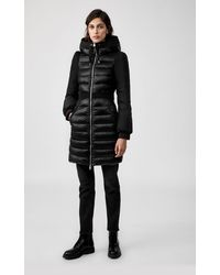 Mackage Milani Lightweight Down Coat With Puffed Sleeves In Black - Women