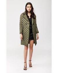 Mackage Esme Quilted Lightweight Down Coat In Army - Women - S - Green