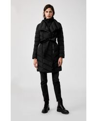 Mackage Ilena Down Coat With Removable Bib In Black - Women