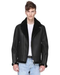 Mackage - Brent Hip Length Jacket With Sheepskin Lining - Lyst