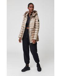 Mackage - Manteau en Duvet Léger avec Capuche en Sable - Lyst