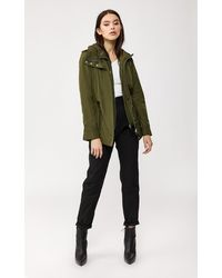 Mackage Melita Rain Jacket With Removable Hooded Bib In Army - Women - Green
