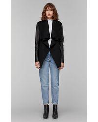 Mackage Vane Luxe Wool Jacket With Waterfall Collar In Black - Women
