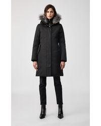 Mackage Harlowe Down Coat With Removable Silverfox Fur In Black - Women