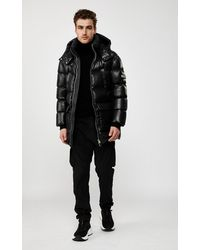 Mackage Kendrick Down Puffer With Removable Hood In Black - Men