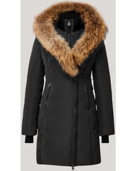 Mackage Kay Down Coat With Signature Natural Fur Collar In Black - Women