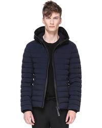 Mackage - Ozzy Straight Cut Light Down Hooded Jacket In Navy - Lyst