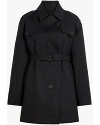 Maison Margiela Black Bonded Cotton Short Trench Coat