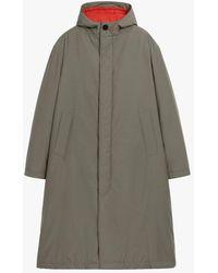 Mackintosh Firenze Dark Olive Rain System Wool Blend Hooded Thindown Parka Gmf-301 - Green