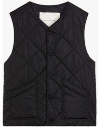 Mackintosh Hig Black Quilted Nylon Liner Vest Gqm-204