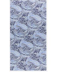 Mackintosh Rafferty Blue Cotton Liberty Print Scarf | Acc-s01