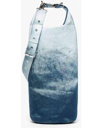 Mackintosh Navy Treated Bonded Cotton Dry Bag - Blue