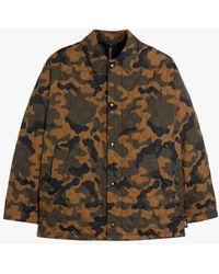Mackintosh Teeming Camo Ripstop Nylon Quilted Coach Jacket Gqm-210 - Green