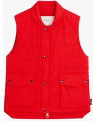 Mackintosh Henting Red Nylon Gilet Gqm-205