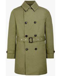 Mackintosh Khaki Cotton Storm System Short Trench Coat Gm-005bs - Green