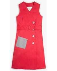 Mackintosh Kate Royal Red Bonded Cotton Dress