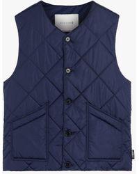 Mackintosh Hig Blue Quilted Nylon Nylon Liner Vest Gqm-204