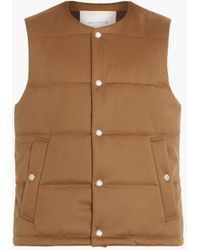 Mackintosh Gills Storm System Wool Vest - Brown