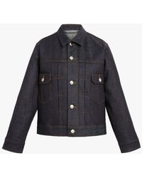 Mackintosh Fearnmore Indigo Denim Jacket   D-wj003 - Blue