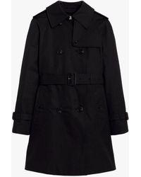 Mackintosh Muie Black Cotton Short Trench Coat Lm-1012f