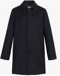 Mackintosh Dunoon Button-through Coat - Blue