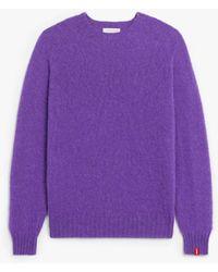 Mackintosh Hutchins Purple Wool Crewneck Jumper