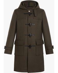 Mackintosh Weir Dark Olive Wool Duffle Coat | Gm-013 - Green