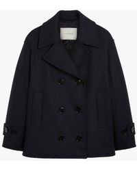 Mackintosh Creetown Navy Wool Pea Coat | Lm-1042f - Blue