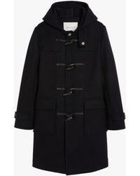 Mackintosh Weir Navy Wool Duffle Coat | Gm-013s - Blue