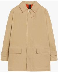 Mackintosh Torrential Beige Dry Waxed Cotton Raincoat Gmm-206 - Natural