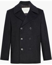 Mackintosh - Black Wool & Cashmere Pea Coat Gm-119f - Lyst