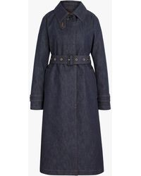 Mackintosh Roslin Indigo Raintec Denim Single Breasted Trench Coat | D-wc061bd - Blue