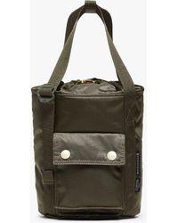 Porter Olive Nylon Porter Mini Bucket Tote Bag - Green