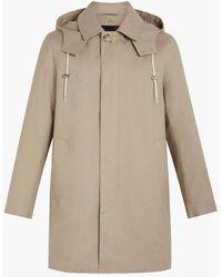 Mackintosh Dunoon Hood Fawn Raintec Cotton Short Hooded Coat Gm-1004fd - Natural