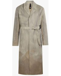 Mackintosh Beige Treated Bonded Cotton Belted Coat - Natural