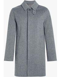 Mackintosh Light Grey Storm System Wool Short Coat Gm-002f - Gray