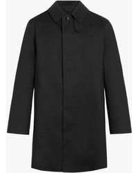 Mackintosh Dunoon Black Bonded Cotton Short Coat Gr-1002d