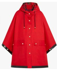 Mackintosh Keith Red Bonded Cotton Hooded Poncho | Lr-088