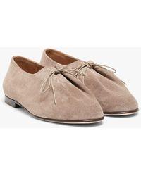 Mackintosh Jacques Solovière Light Beige Suede Lace-up Shoes - Natural