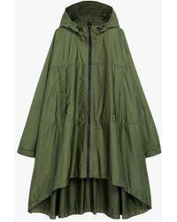 Mackintosh Mist Military Green Nylon Cape